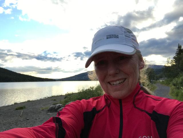 Kvällslöpning längs Åresjön.