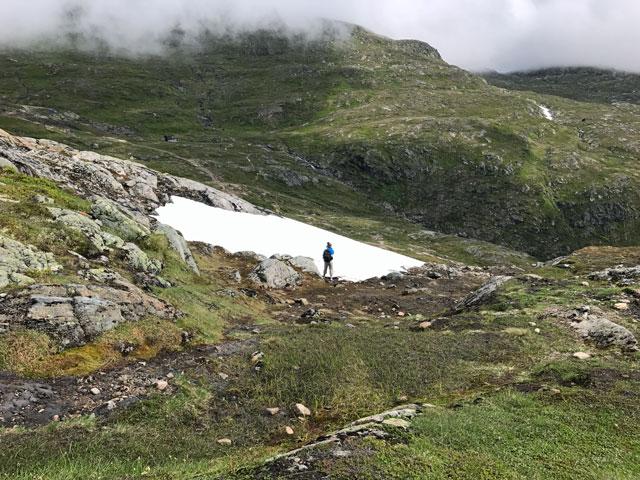 Snötäcke på Åreskutan