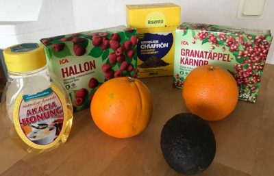 Ingredienserna till vitaminsmoothie