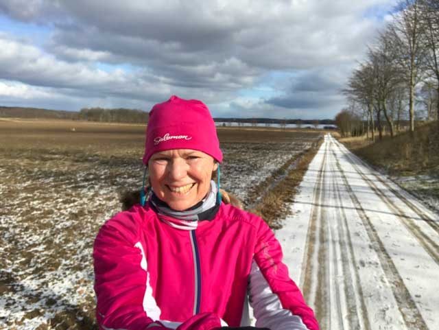 vinterlöpning mot Balsberget