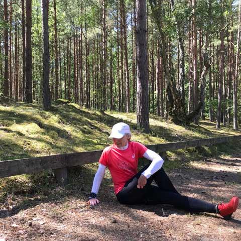 stretchövning rumpa, utsida höft