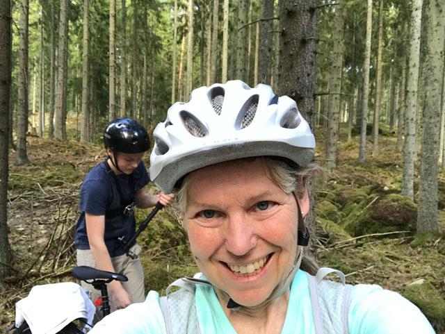 Stannat i skogen i Ekestad för att träna styrka.