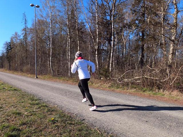 Löpning på välpreparerade stigar i Södra Björket