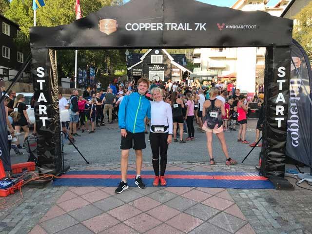 Loppet Cooper Trail 7K i Åre. Start- och mållinjen.