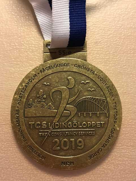 Medalj för Lidingöloppet 30K 2109