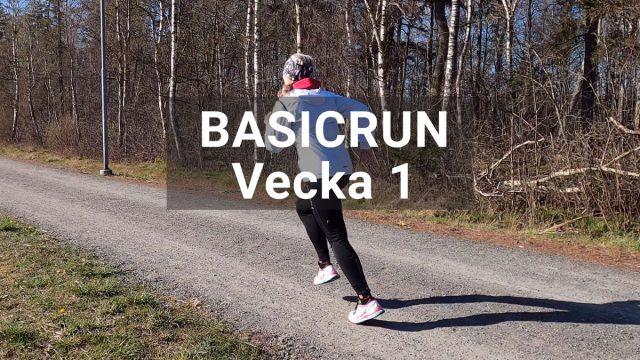 Basicrun löpträningspass vecka 1