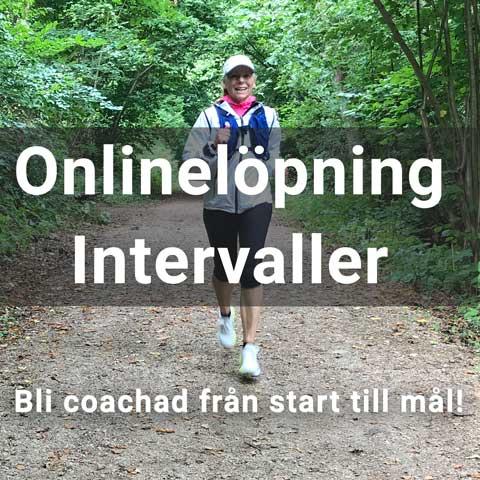 Onlineträning i löpning. Roliga intervaller.