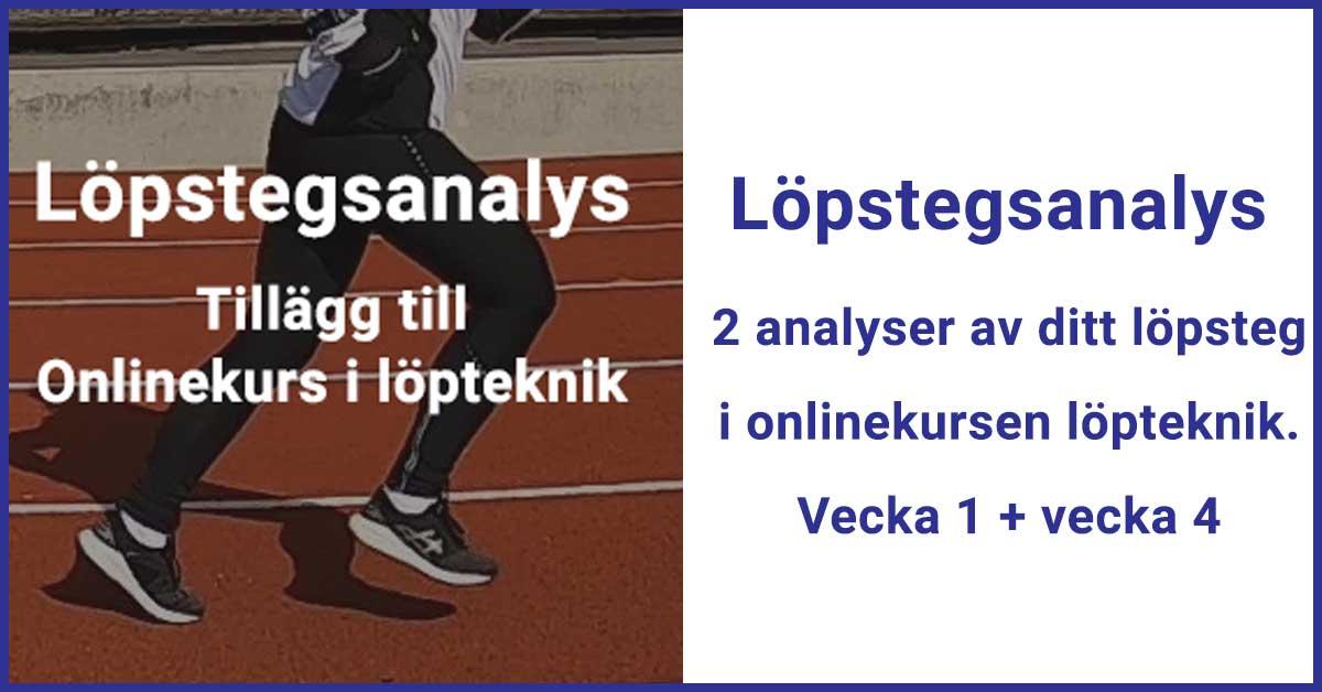 Löpstegsanalys. Tillägg till onlinekursen i löpteknik.