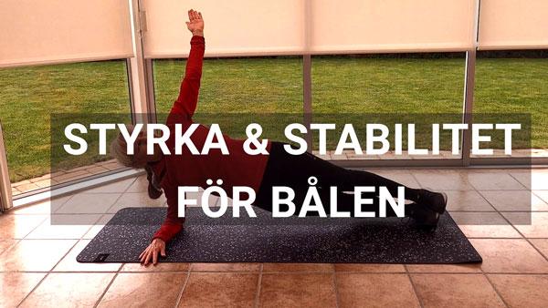 Styrka och stabilitet för bålen - BasicRun